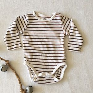 H & M Striped Onesie